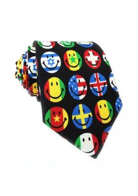 Cravatta seta bandiere MOSCHINO
