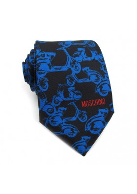 Cravatta seta biciclette MOSCHINO