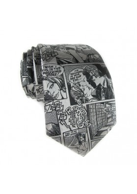 Cravatta seta comics MOSCHINO