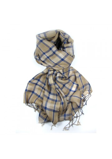 Sciarpa lana a quadri GUERRIERI