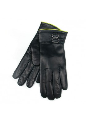 Women winter exclusive leather gloves BRUNO CARLO