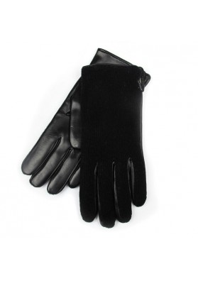 Women winter fancy black leather gloves BRUNO CARLO