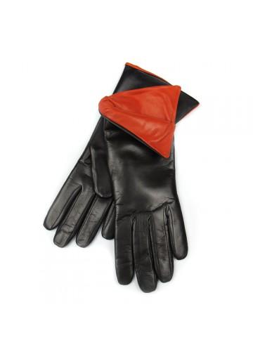 Women winter stylish gloves leather BRUNO CARLO