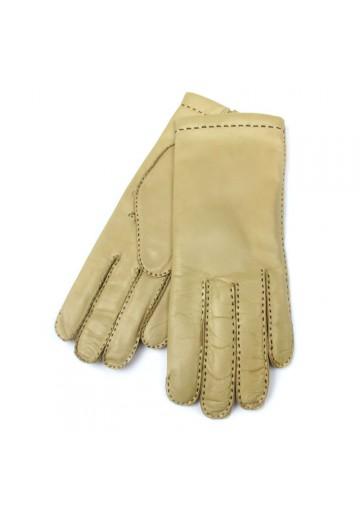 Women classy light leather gloves BRUNO CARLO