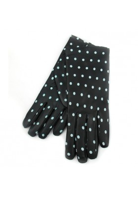 Women black wrist leather gloves BRUNO CARLO