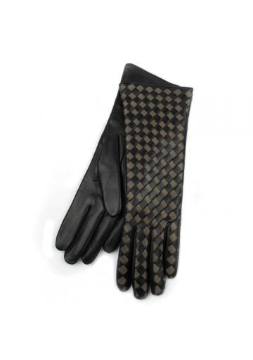 Women long gloves in weaved leather BRUNO CARLO