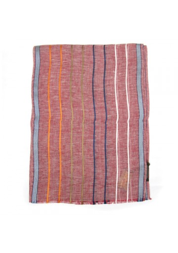 Sciarpa lino a righe GUERRIERI-fashion