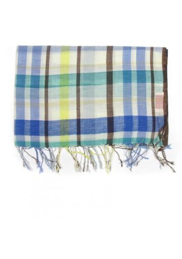 Sciarpa cotone a quadri GUERRIERI-fashion