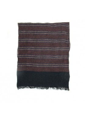 Scarf linen stripes GUERRIERI