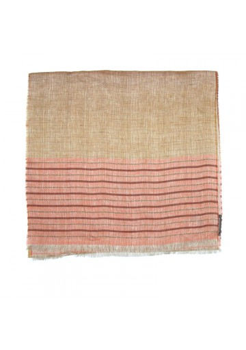Sciarpa lino a righe GALLIENI1889-fashion