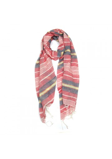 Sciarpa cotone a righe GUERRIERI-fashion