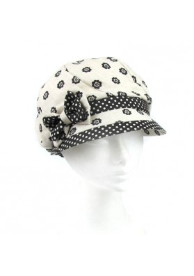 Hat linen flowers MARINI SILVANO