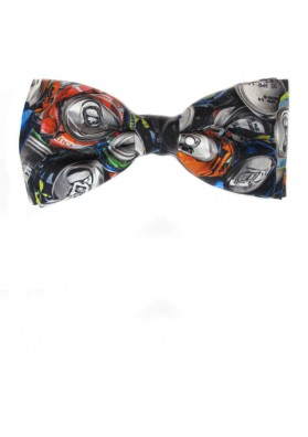 Stylish silk bow tie with original print MOSCHINO