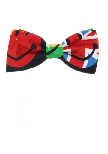Adjustable fashion bow tie from printed silk MOSCHINO