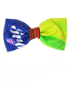 Cravatta a farfalla in seta stampata MOSCHINO