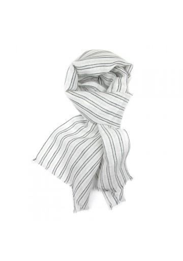 Scarf linen cotton stripes GUERRIERI