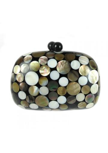 Bag clutch mother-of-pearl VILLANUEVA CAREY