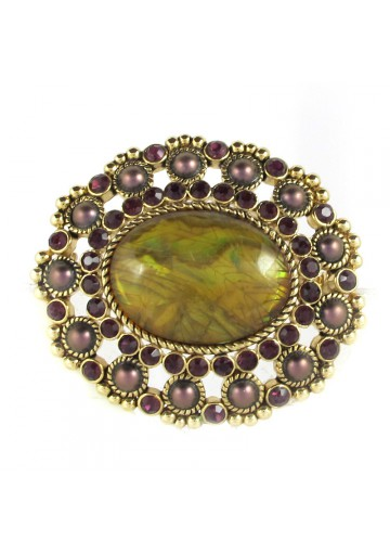Vintage brooch OVAL MONET