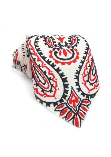 Cravatta cotone a fiori MOSCHINO