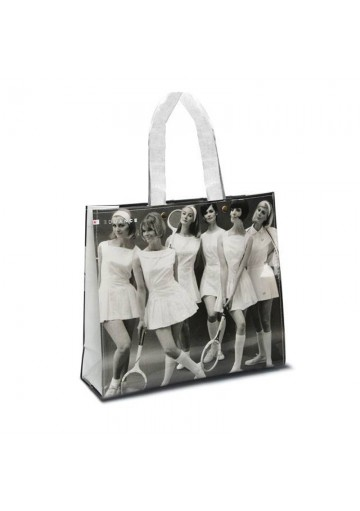 Borsa spese con stampa vintage EDUANCE