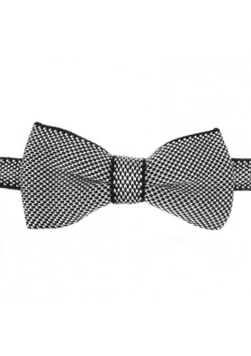 Fancy bow tie from knitted silk GUERRIERI
