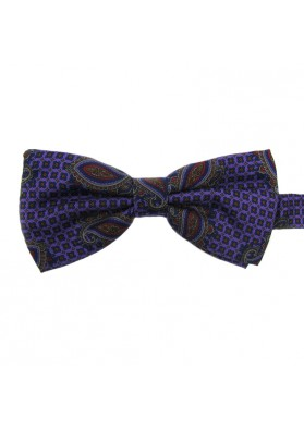 Men thistle bow tie from silk GALLIENI1889