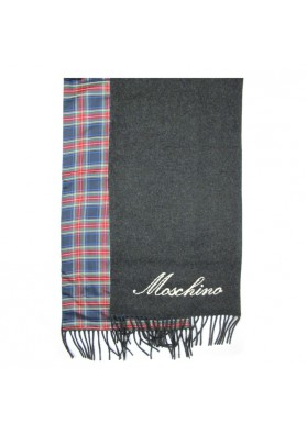 Sciarpa lana seta a quadri MOSCHINO
