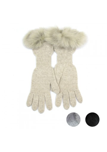 Women winter long woolen gloves MARINI SILVANO
