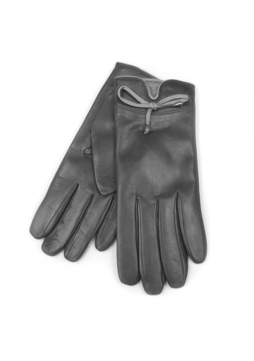 Women grey gloves in soft leather BRUNO CARLO