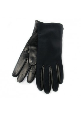 Black posh gloves from leather BRUNO CARLO