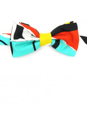 Silk original colorful bow tie  MOSCHINO