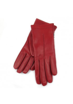 Women red gloves in soft leather BRUNO CARLO