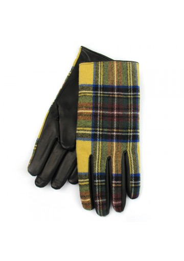 Men elegant gloves leather wool BRUNO CARLO