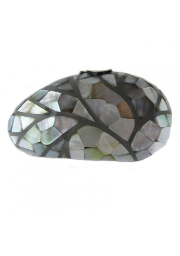 Bag clutch mother-of-pearl VILLANUEVA CAREY