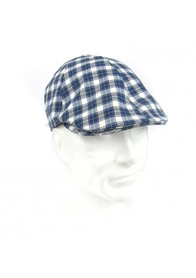 Cap cotton checks MARINI SILVANO