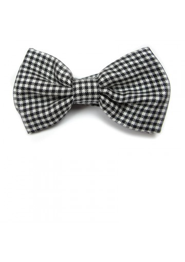 Stylish checked bow tie from pure silk MOSCHINO