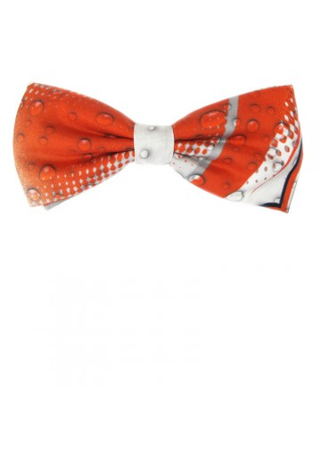 Edgy bow tie from orange 100% silk MOSCHINO