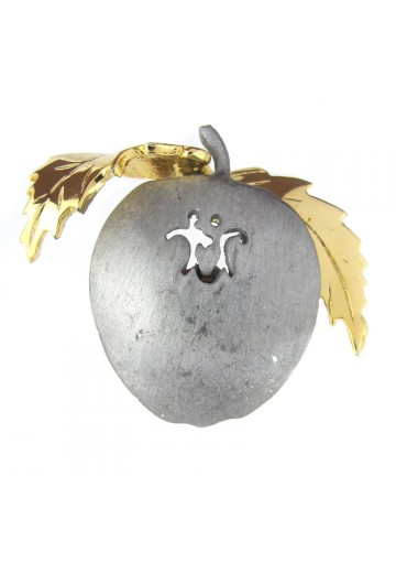 Vintage brooch pewter APPLE ULTRA CRAFT