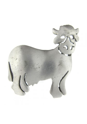 Vintage brooch pewter COW ULTRA CRAFT