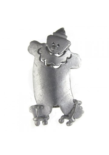 Vintage brooch pewter CLOWN ULTRA CRAFT