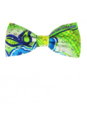 Exclusive bow tie in printed silk MOSCHINO