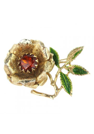 Vintage brooch EMBER FLOWER SARAH COVENTRY