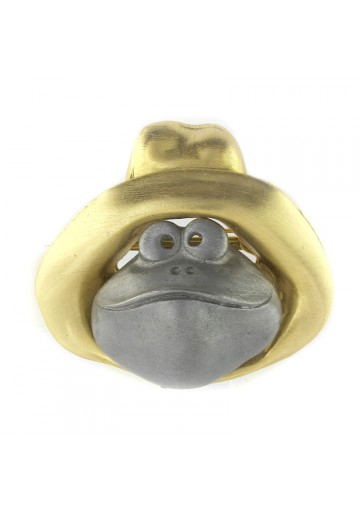 Vintage brooch pewter FROG ULTRA CRAFT
