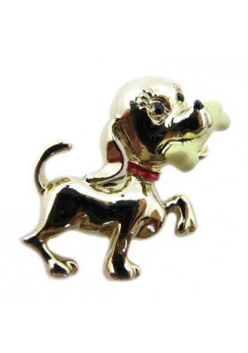 Vintage brooch DOG WITH BONE GERRY'S