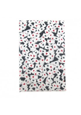 Scarf cotton silk CARDS MOSCHINO