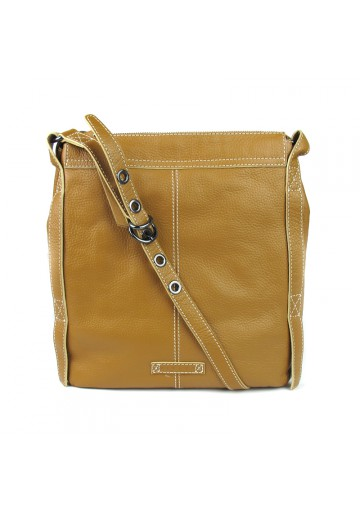 Women messanger leather brown bag SISLEY