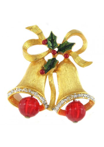 Vintage brooch BELLS USA