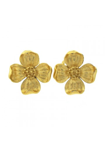 Vintage earrings FLOWERS WITH FOUR PETALS TRIFARI