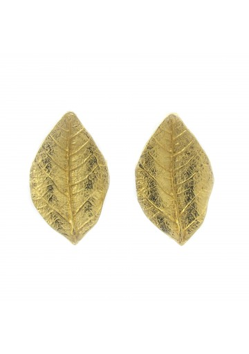 Vintage earrings THIN LEAVES TRIFARI