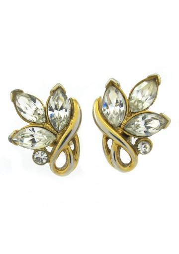 Women vintage stud earrings FLOWERS TRIFARI